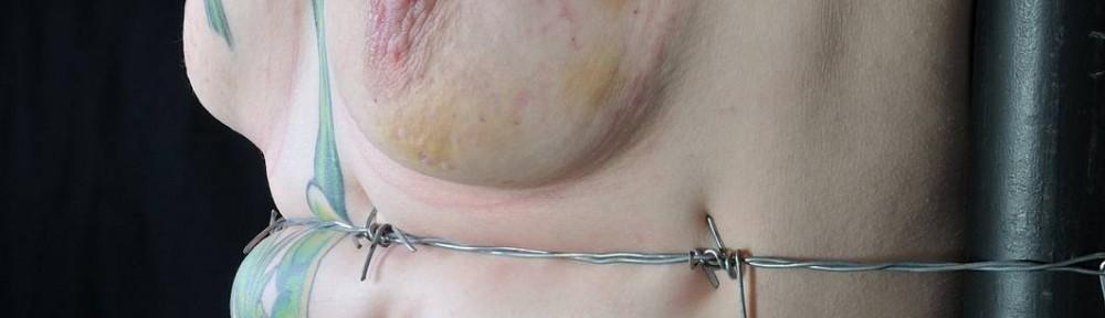 barbed wire bondage